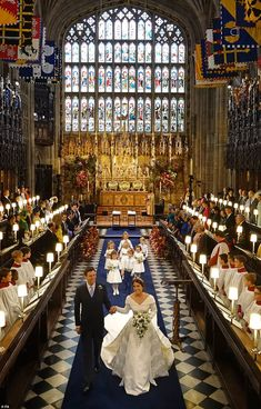 Royal Family Around the World: The Wedding of Princess Eugenie of York to Jack Brooksbank at Windsor Castle on October 2018 in Windsor, England.