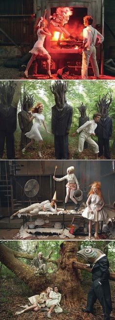 annie leibovitz hansel and gretel// I like these pictures that make reference to Hans and Gretel in such an extravagant way. The way they are dressed and the settings are very original. Some of them are creepy, and maybe she is relating some characters to animals.