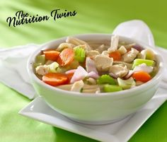 Hearty Chicken Noodle Soup | Comfort Food Bloat-Free! | Low in sodium | Slimming, Packed with flavor and Protein | Only 200 calories | For MORE RECIPES please SIGN UP for our FREE NEWSLETTER NutritionTwins.com
