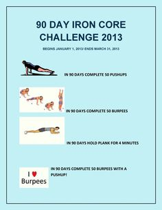 Pick one exercise as your challenge! Now, invite others! Lets celebrate after 90days and share our accomplishments