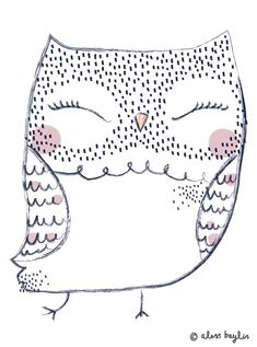 graphic, illustration, owl
