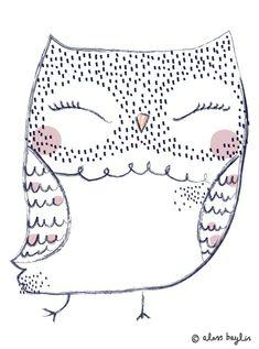 graphic, illustration, owl