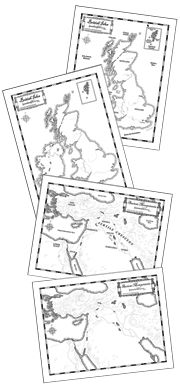 Free download of Fertile Crescent map and Canada map to use at home with C1 CC.  Homeschool in the Woods by Amy Pak.