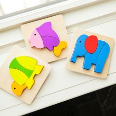 Nature Buddies Set of 3 Wooden Mini Puzzles and thousands more of the very best toys at Fat Brain Toys. Each animal is made up of four or five uniquely shaped blocks. It's up to your little problem-solver to figure out how they go together inside the cutout slot of each puzzle board to create each animal. It's early tactile learning beautifully perfected!