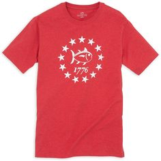 Declaration Tee Shirt in Heathered Red by Southern Tide #$0-to-$50 #cf-size-l #cf-size-m