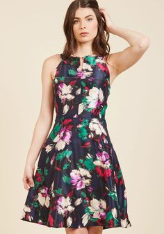 Woman of the Party People Floral Dress, #ModCloth