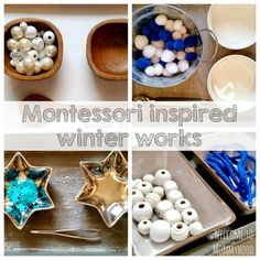 Winter Activities for Kids: Montessori inspired practical life and fine motor activities by Welcome to Mommyhood
