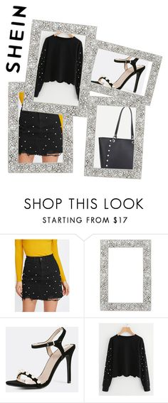 """""""Shein black&Pearl combo."""" by starlightdoh ❤ liked on Polyvore featuring Frontgate"""