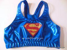 Super Steel Metallic Sports Bra Cheerleading. $25.00, via Etsy.