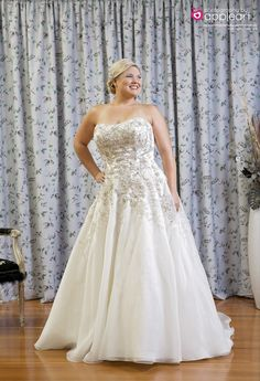 Justin Alexander Plus size Bridal shoot