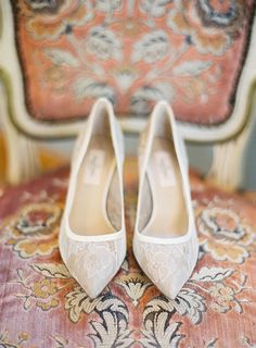 Consider a pair that echoes the pretty lace on your gown. Photo by Jemma Keech via Style Me Pretty
