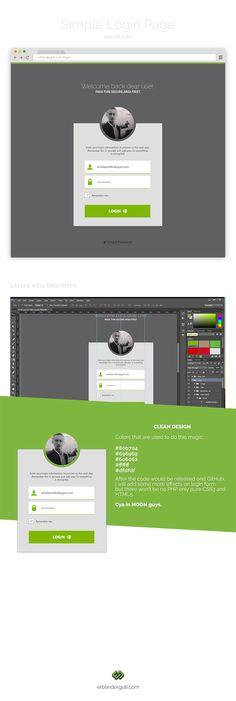 Simple login page. Login Page Design, Ui Ux Design, App Login, Application Design, User Experience, Web Development, Template, Website, Simple