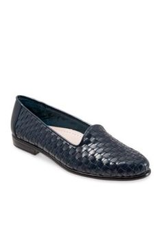 Trotters Navy Liz Woven Loafer