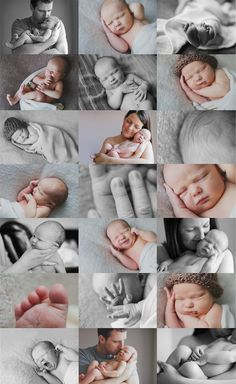 Baby Photography.... Love the color & black/white collage with close up shots and individual shots! Best one of these I have seen!