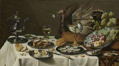 Still Life with a Turkey Pie, Pieter Claesz., 1627