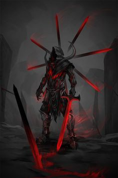 Demon Concept Art Warriors 42 Ideas For 2019 Ninja Kunst, Arte Ninja, Ninja Art, Fantasy Armor, Dark Fantasy Art, Dark Art, Fantasy Character Design, Character Art, Character Concept