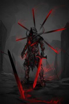 cursed duelist, Wojtek Depczyński on ArtStation at https://www.artstation.com/artwork/B9yQA