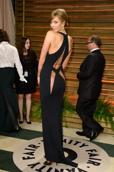 Sheer ass fangs. Okay. Karlie Kloss   57 Awesome Oscars After-Party Dresses The Stars Partied In Last Night