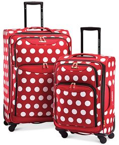 Disney Minnie Mouse Polka Dot Spinner Luggage by American Tourister | macys.com
