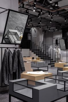 Fashion shop interior, fashion showroom, retail interior design, retail s. Fashion Shop Interior, Fashion Showroom, Retail Interior Design, Retail Store Design, Retail Stores, Hangzhou, Commercial Design, Commercial Interiors, Design Shop