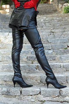Eigene Kollektion - MICELI - Made in Italy Absatz: schwarz lackiert, Höhe: 7 cm, Farbe: Schwarz, Material: Fußteil: Echtes Leder, Schaft: Stretch-Kunstleder   Ohne Reißverschluss.