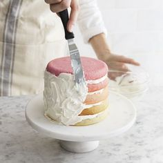 How to make an ombre cake!  COOL!