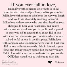 If you ever fall in love...