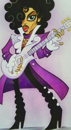 "Prince Art 🖌 - ""My name is Prince. Prince Drawing, Pop Art, Prince Tattoos, Prince Party, Prince Purple Rain, Celebrity Caricatures, Dearly Beloved, Prince Rogers Nelson, Purple Reign"