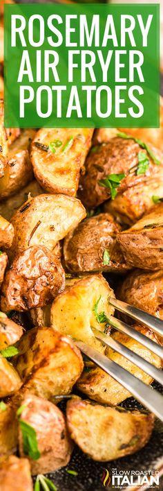 air fryer potatoes Red Potato Recipes, Honey Recipes, Side Dish Recipes, Real Food Recipes, Crockpot Recipes, Dinner Recipes, Side Dishes, Veggie Dishes, Delicious Recipes