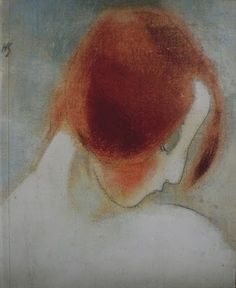Red Haired Girl, Helene Schjerfbeck I Women in Art History Helene Schjerfbeck, Redhead Art, Kunst Online, Abstract Images, Girl Reading, Figurative Art, Helsinki, Female Art, Painting & Drawing