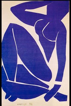 Blue Nude by Henri Matisse, Cutout. One in his Blue Nude series Henri Matisse, Matisse Kunst, Matisse Art, Art And Illustration, Font Paint, Abstract Expressionism, Abstract Art, Picasso Paintings, Inspiration Art