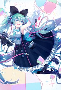 Apr 2020 - Page 2 Read Hatsune Miku 🦋 from the story [SƯU TẦM] Anime Art by Convalaria (Linh Lan) with 152 reads. Manga Girl, Manga Anime, Manga Kawaii, Anime Art Girl, Miku Cosplay, Vocaloid, Demon Dragon, Anime Blue Hair, Chibi