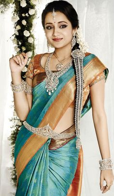 traditional south indian saree follow us at http://www.pinterest.com/nricouple/