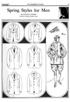 mens fashion from the Progressive Tailor. 1920