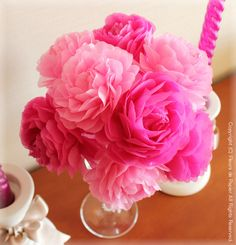 $Fleurs de Papier ~クラフトパンチや花紙で作る立体のお花いろいろ~-お花紙のバラ もっと見る