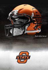 Oklahoma State football helmets