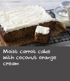Try our super moist carrot cake sandwiched with coconut cream cheese icing. Cheese Sandwich Recipes, Moist Carrot Cakes, Golden Syrup, Cream Cheese Icing, Coconut Cream, Carrots, Sandwiches, Vegetarian, Orange