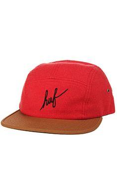 HUF Hat Script Flannel 5 in Red