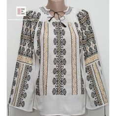 Ie traditionala romaneasca brodata Royals, Bohemian, Costumes, Embroidery, Chic, Long Sleeve, Sleeves, Tops, Women