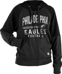a54c2c897 Team Apparel Women s Philadelphia Glitter Tri-Blend Fleece Full-Zip Hoodie  Buffalo Bills