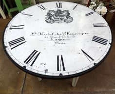 French clock face table