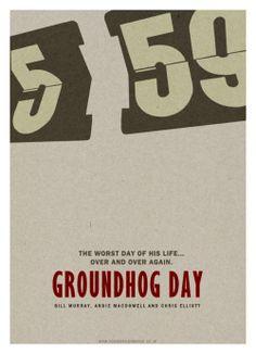 Minimalist Movie Poster: Groundhog Day