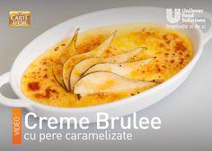 CREME BRULEE CU PERE CARAMELIZATE Creme Brulee, Ethnic Recipes, Food, Eten, Meals, Diet
