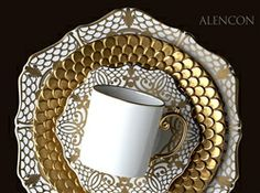 Gracious Style specializes in high end furnishings for your home, including fine linens, luxury dinnerware, and special gifts. Beautiful Table Settings, Table Setting Inspiration, Touch Of Gold, Fine Linens, China Patterns, Bridal Gifts, China Dinnerware, China Porcelain, Cup And Saucer