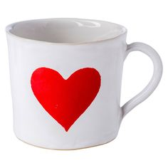 <p>Inspired by Alice in Wonderland, this generous Heart mug will make your favourite brew even more enjoyable.</p> <p>Handcrafted from clay and finished with a smooth glaze, the entire production of this ceramic collection is completed in a small studio in Berlin.</p> <p><em>Care instructions: Dishwasher safe.</em></p>