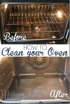 How to Clean Your Oven by Unskinny Boppy.
