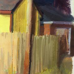 Richmond neighborhood in my tiny Handbook sketchbook #sketchbook #gouache #landscape #houses #richmond #painting #alexthebeck