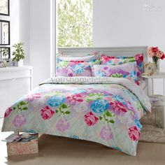 Wholesale New fashion design cotton four pices bedding sets AB design pattern with half reactive printed twill bedding sheet bed cover,comforter set, $63.0/Piece | DHgate