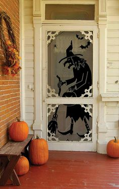 Halloween decorations : IDEAS & INSPIRATIONS  Witch Scenic Panel