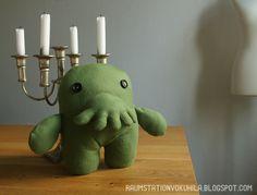 Raumstation Vokuhila, DIY, Cthulhu plush, Lovecraft sewing pattern from cholyknight.com